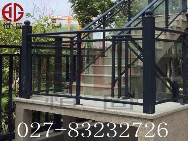 锌钢玻璃凹槽式栏杆